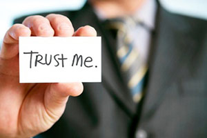 "a card with words ""trust me"""